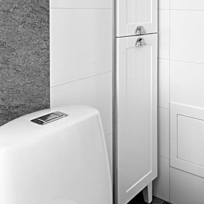 inbyggt skåp i badrum